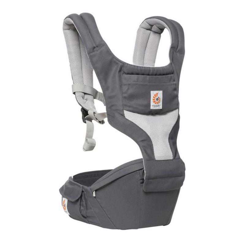 Địu cho bé Ergobaby Hip Seat Baby Carrier Cool Air Mesh – Carbon Grey