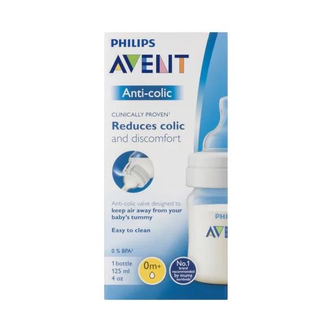 Bình sữa Philips Avent Anti Colic bằng nhựa không có BPA 125ML