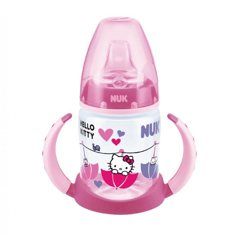 Bình tập uống NUK PP Hello Kitty 150ml màu hồng