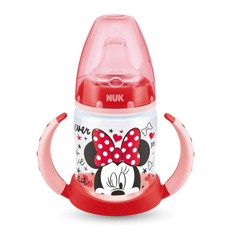 Bình tập uống NUK PP Mickey 150ml màu đỏ