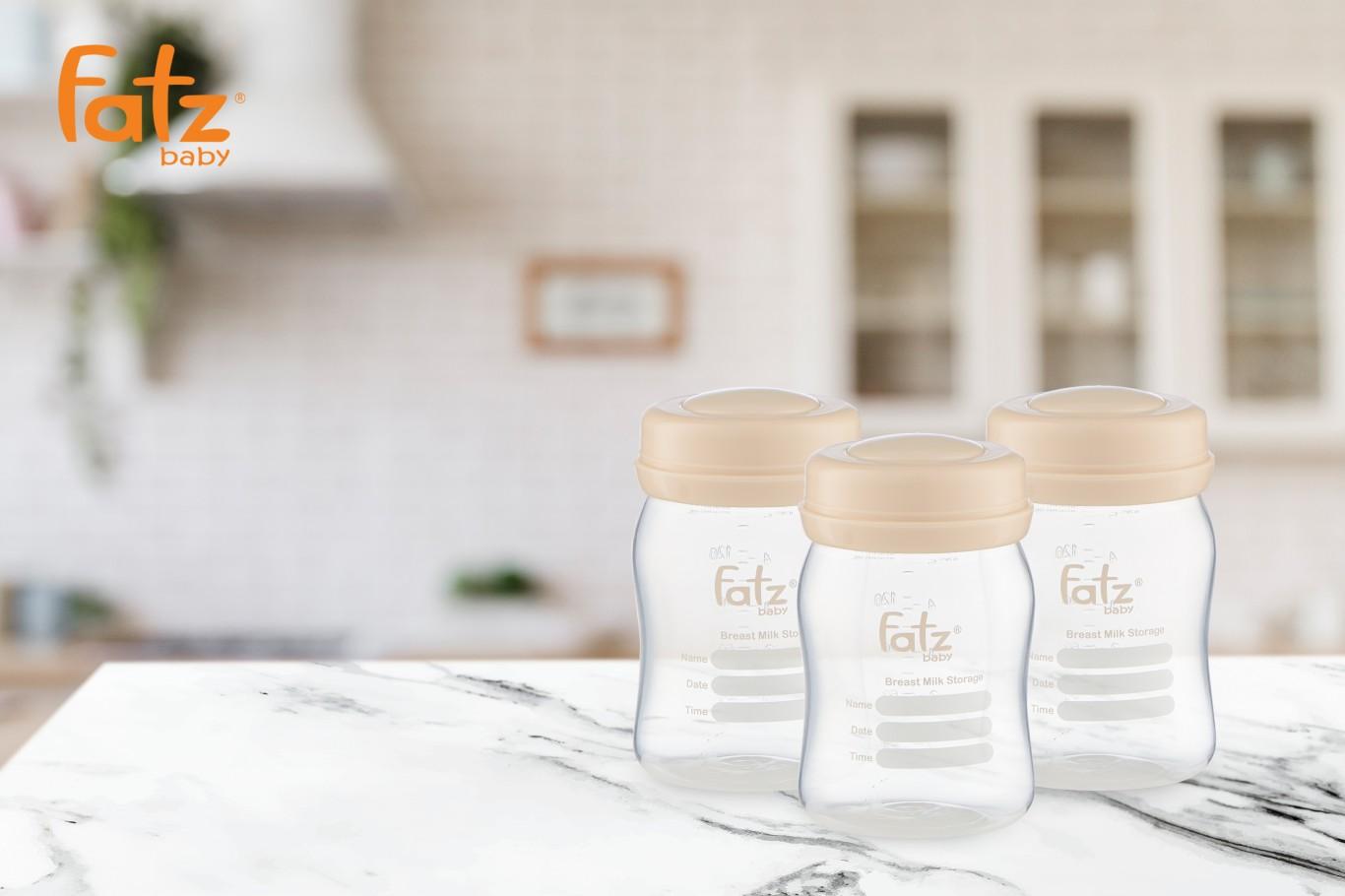 Bình trữ sữa 150ML (Bộ 3 bình) Fatzbaby FB0120NH