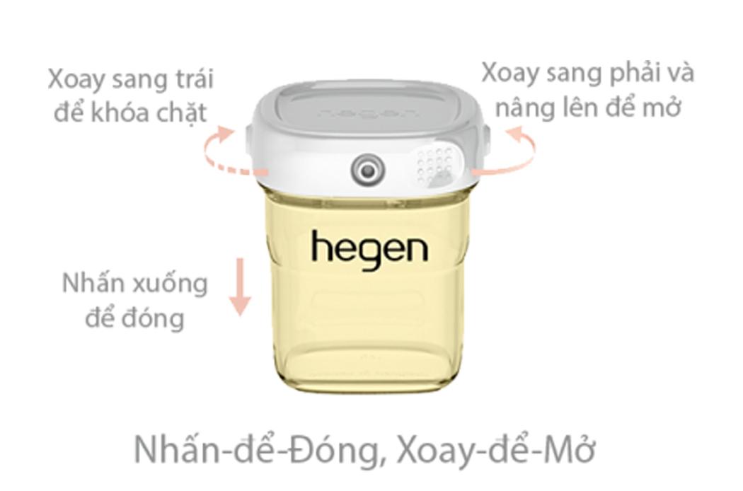 Bình trữ sữa Hegen PPSU 60ml nắp màu trắng