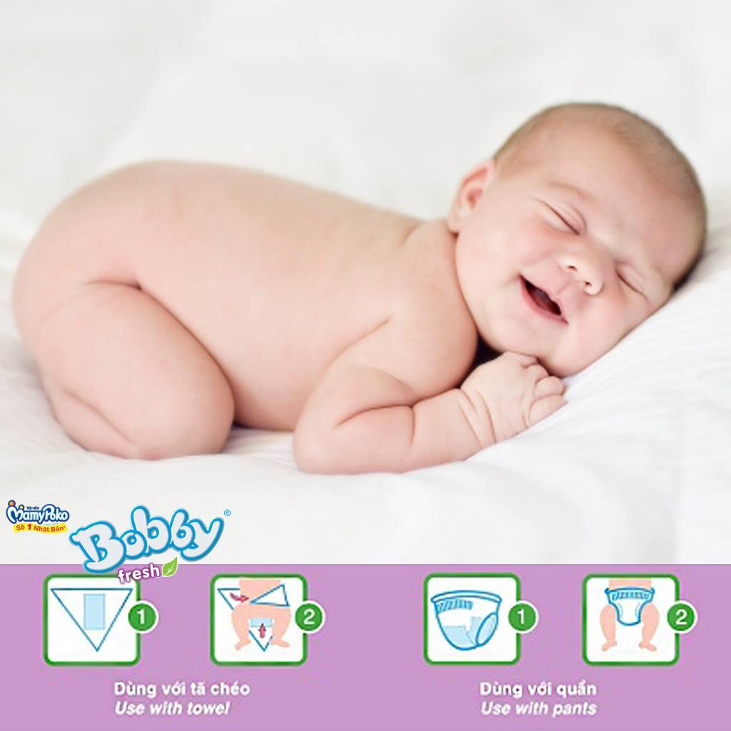 Bỉm - Miếng lót sơ sinh Bobby size Newborn 2 -  40 miếng (Cho trẻ trên 1 tháng tuổi)