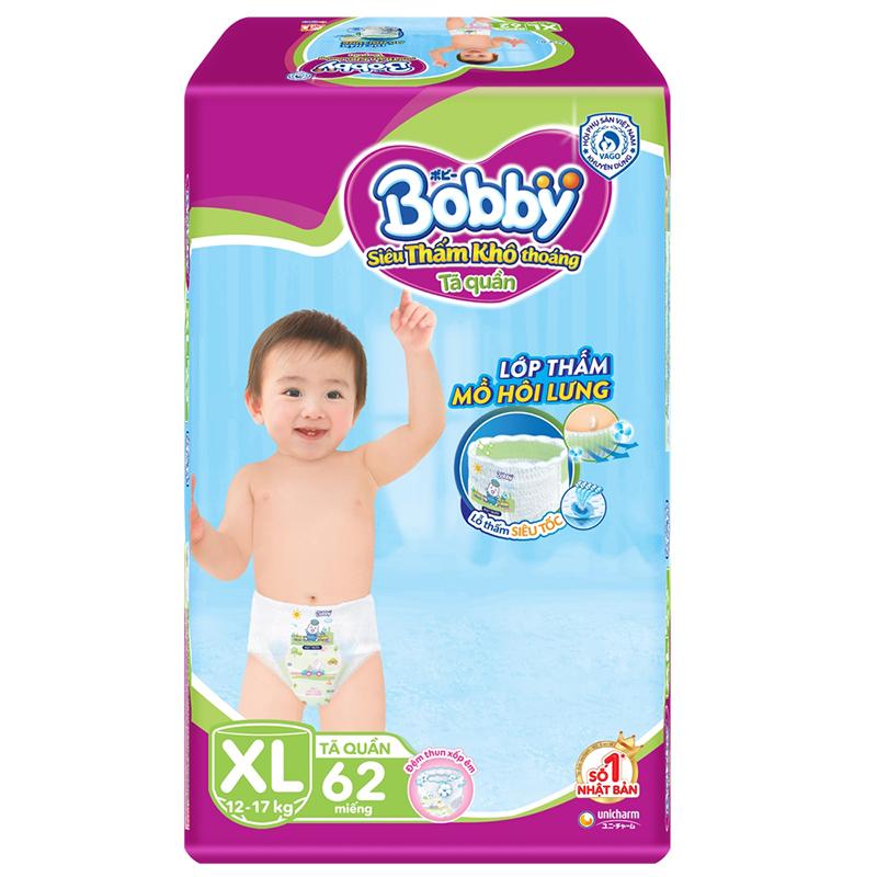 Bỉm - Tã quần Bobby 1805 Size XL - 62 miếng (12 - 17kg)