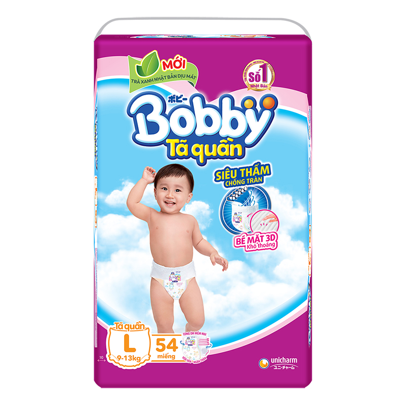 Bỉm - Tã quần Bobby Fresh size L - 54 miếng (9 - 13kg)