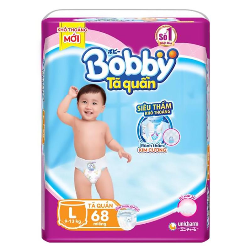Bỉm - Tã quần Bobby Fresh size L - 68 miếng (9 - 13kg)