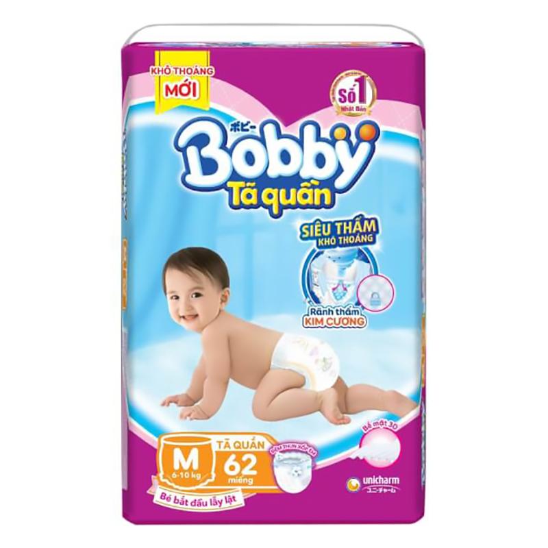 Bỉm - Tã quần Bobby Fresh size M - 62 miếng (6 - 10kg)