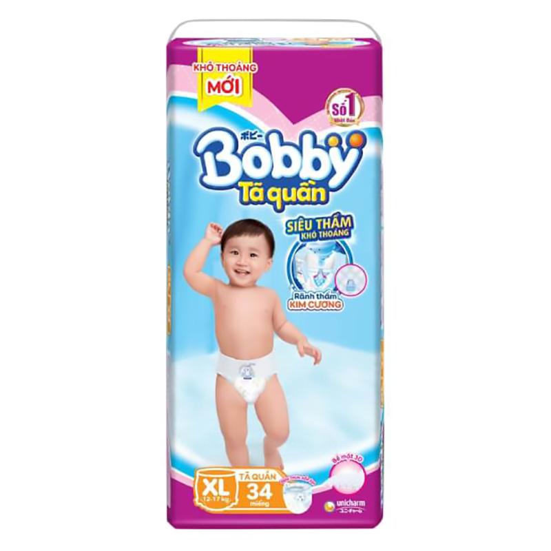 Bỉm - Tã quần Bobby Fresh size XL - 34 miếng (12 - 17kg)