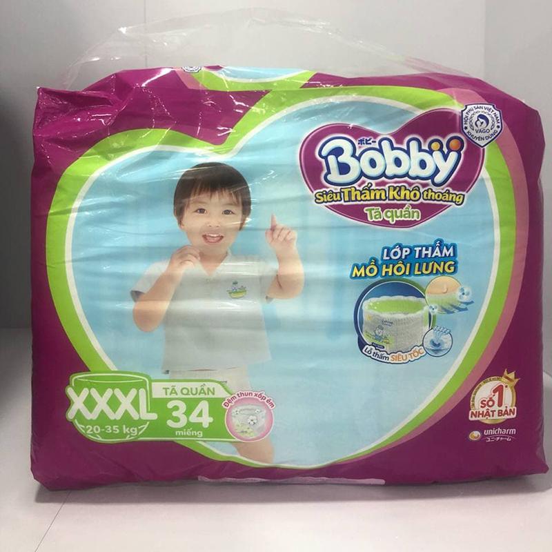 Bỉm - Tã quần Bobby Fresh size XXXL - 34 miếng (20 - 35kg)