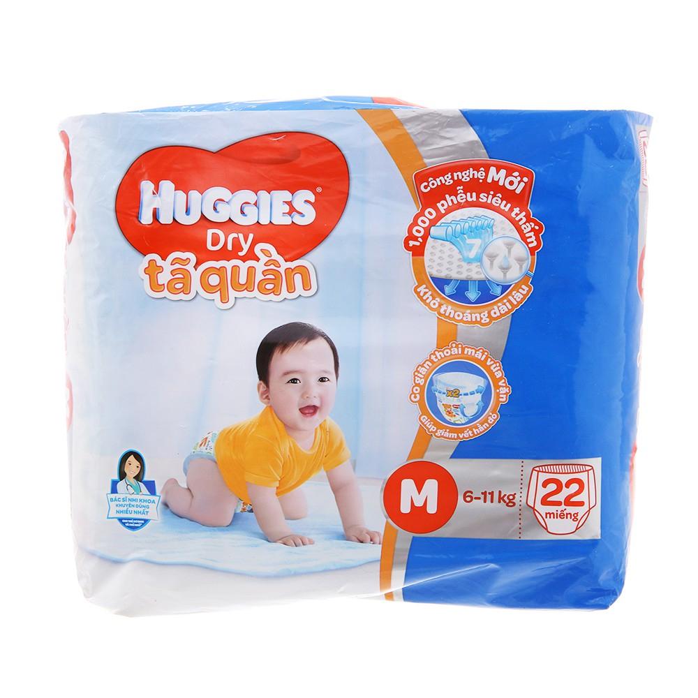 Bỉm - Tã quần Huggies size M - 22 miếng (Cho bé 6 - 11kg)
