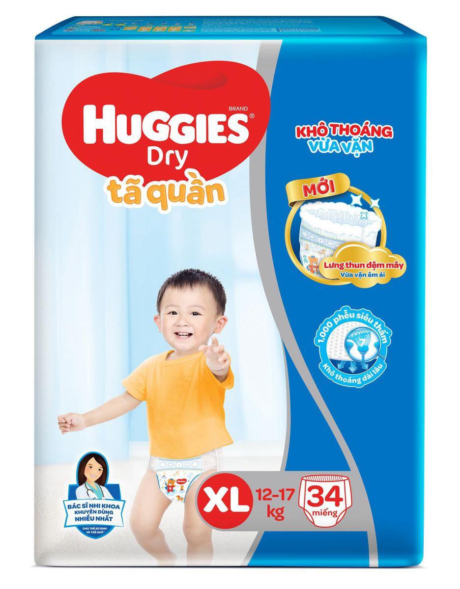 Bỉm - Tã quần Huggies size XL - 34 miếng (Cho bé 12 - 17kg)