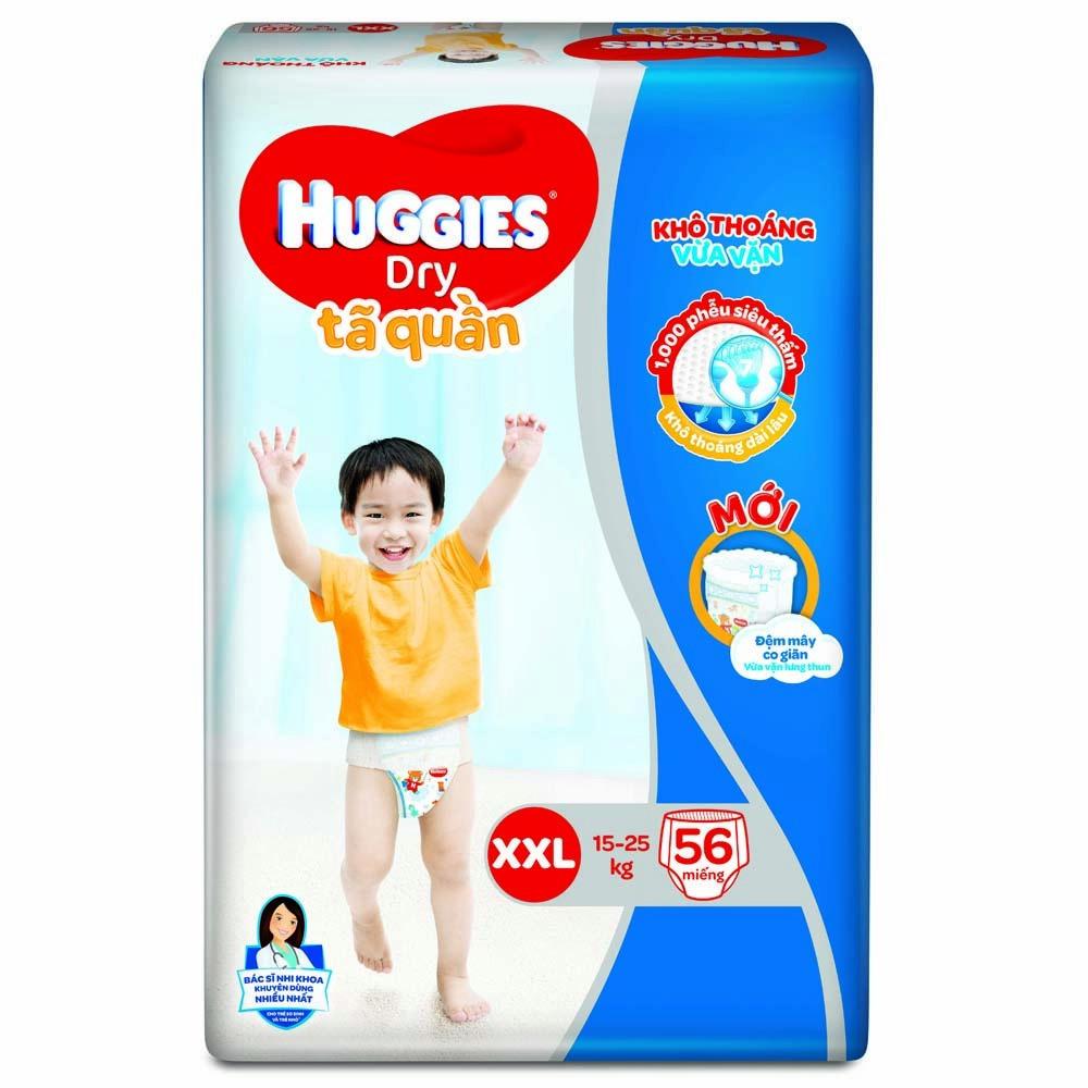 Bỉm - Tã quần Huggies size XXL - 56 miếng (Cho bé 15 - 25kg)