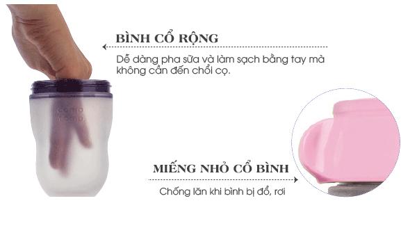 Bộ hai bình silicone Comotomo 150ml - Hồng