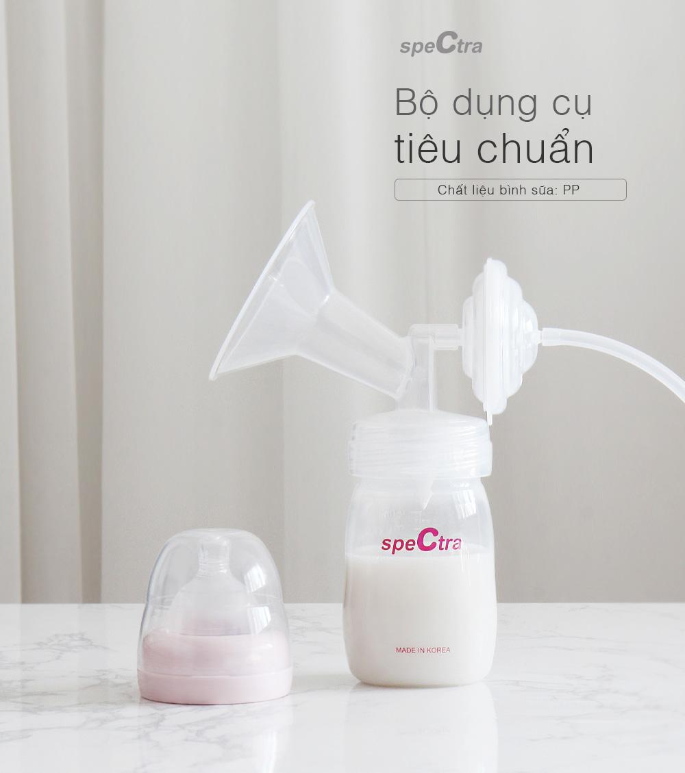 Bộ phụ kiện tiêu chuẩn dành cho máy hút sữa Spectra (Cổ rộng, phễu size 16/20/24/28)