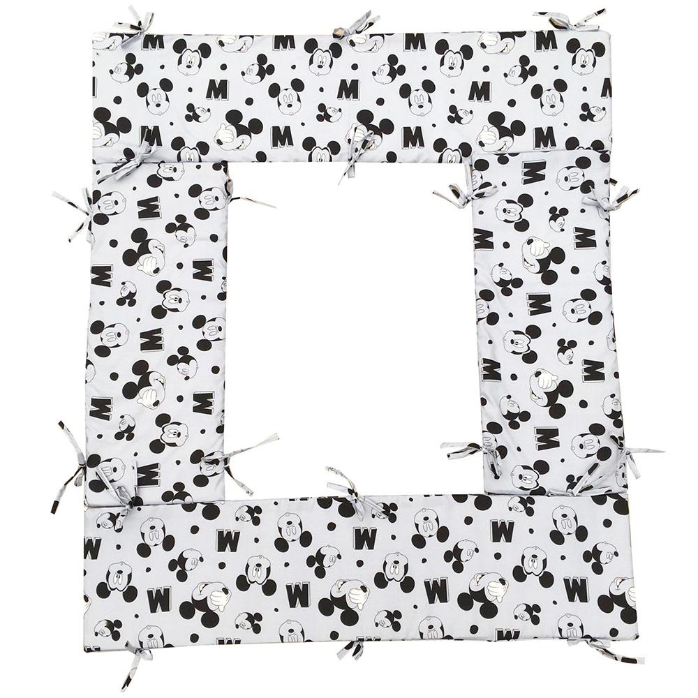 Bộ quây cũi và ga vải bọc đệm cho bé- Chất liệu thô lụa (Mine, 62x100)