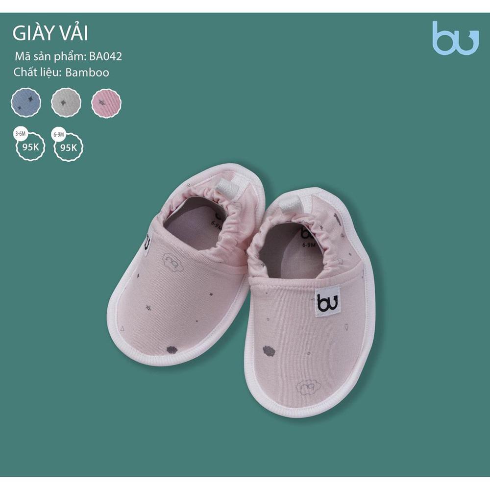 BA042.1 - Giày vải Bamboo Bu màu hồng