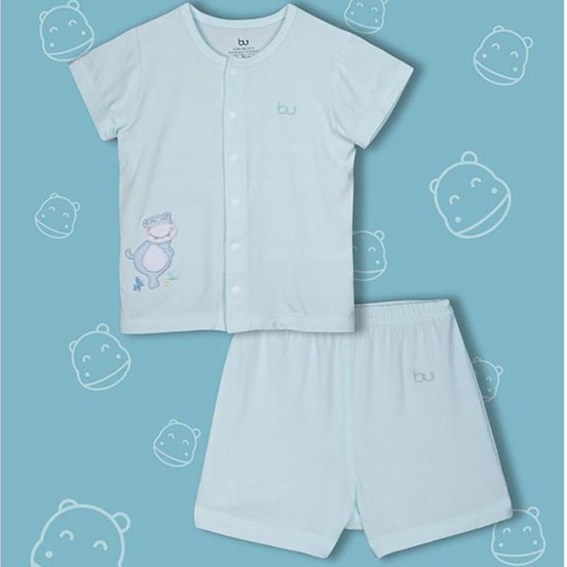 BB010. mint- Set đồ đùi tay ngắn cúc giữa cho bé- Bu