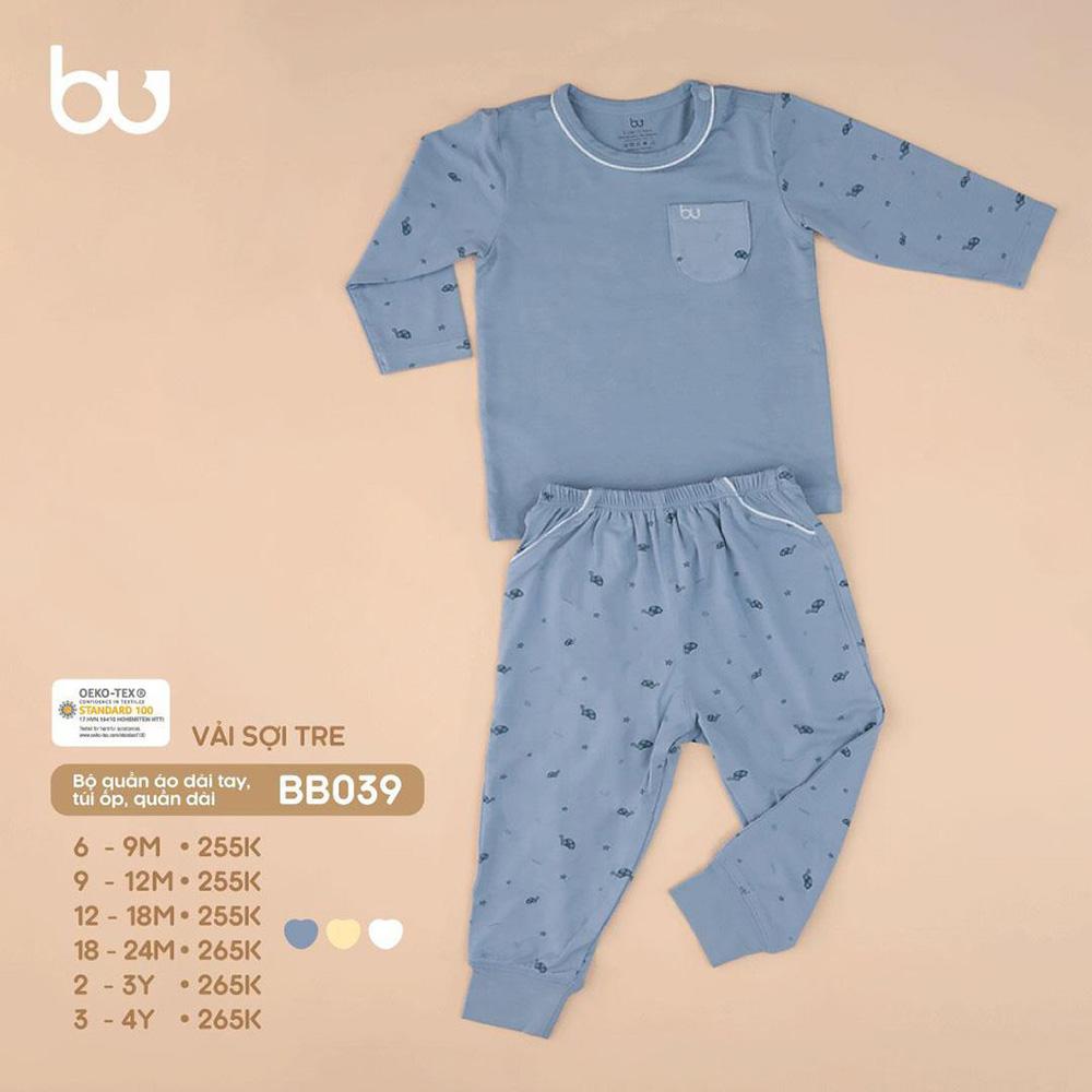BB039.blue - Bộ quần áo dài tay túi ốp Bu