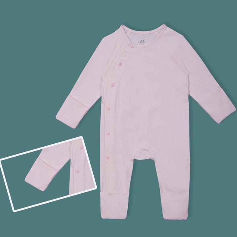 BOC004.pink- Bộ body dài kèm bao tay, bao chân- Bu