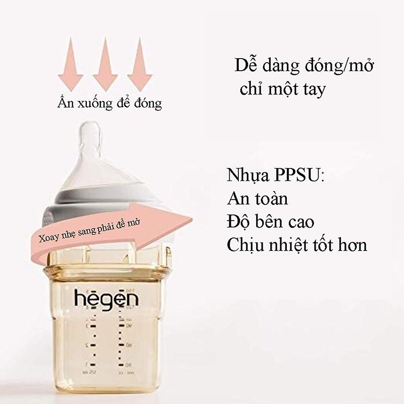 Bình sữa Hegen PPSU 150ml núm ti dành cho bé