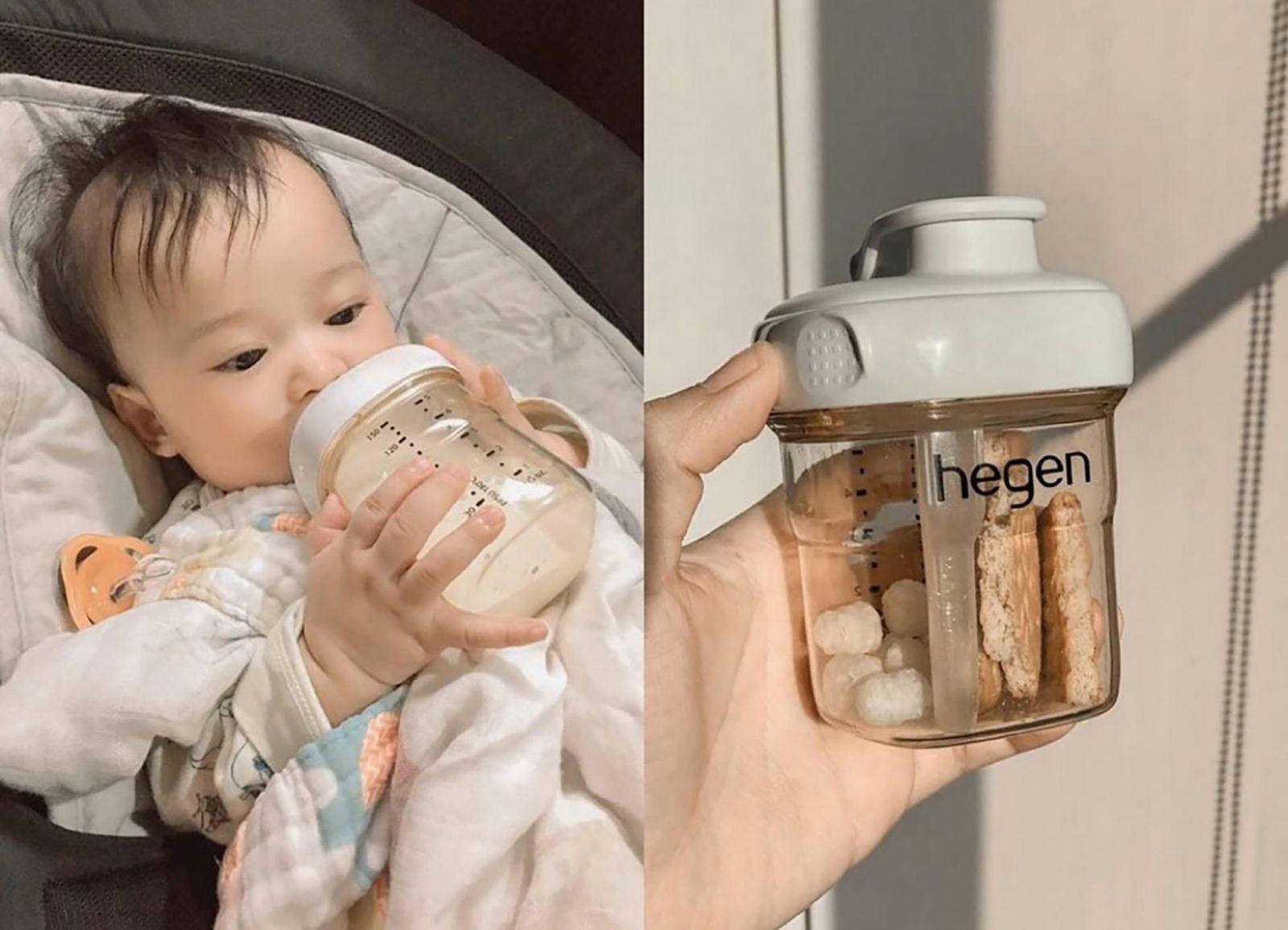 Bình sữa Hegen PPSU 150ml núm ti dành cho bé 0-3 tháng tuổi