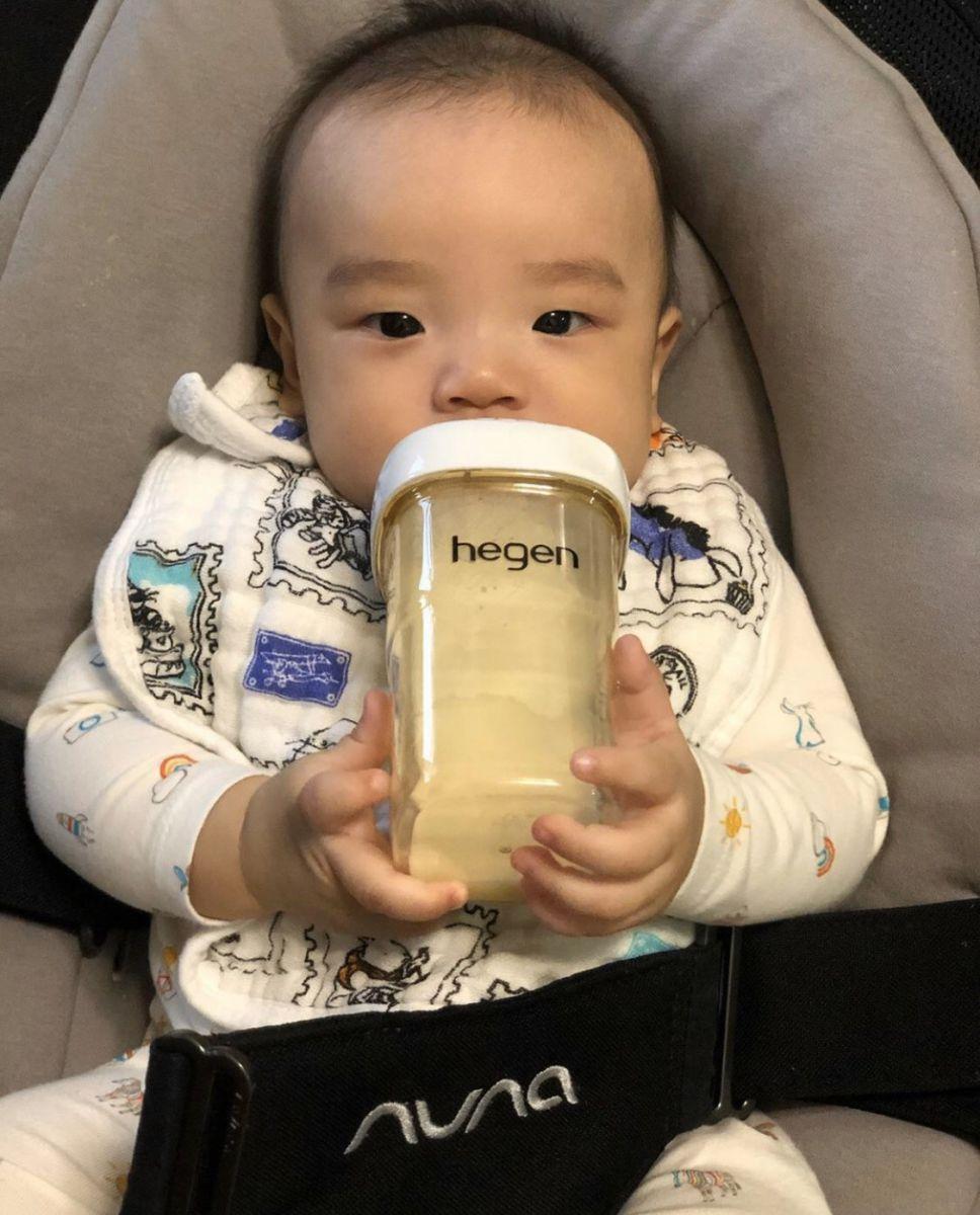 Bình sữa Hegen PPSU 240ml núm ti dành cho bé 3-6 tháng tuổi
