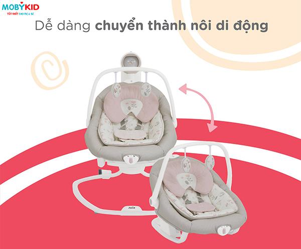 Các bà mẹ UK nói gì về chiếc nôi em bé Joie Serina 2in1