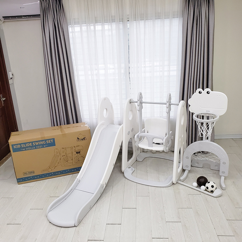 Cầu trượt Holla 5in1 2021 màu trắng