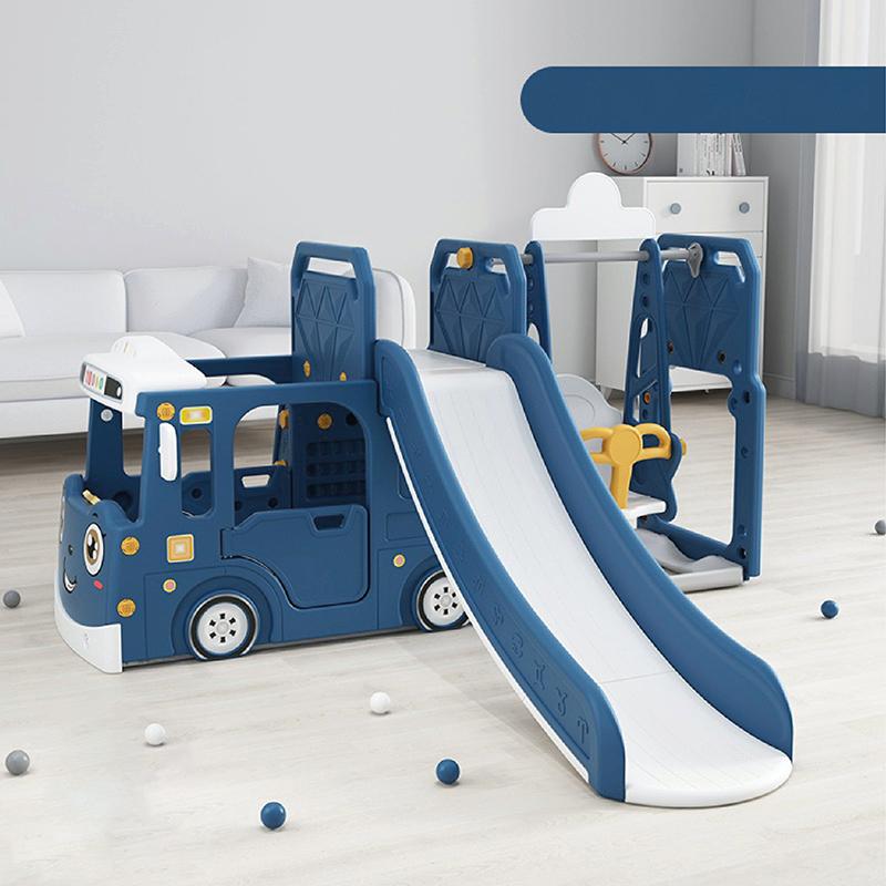 Cầu trượt xích đu ô tô Holla màu xanh
