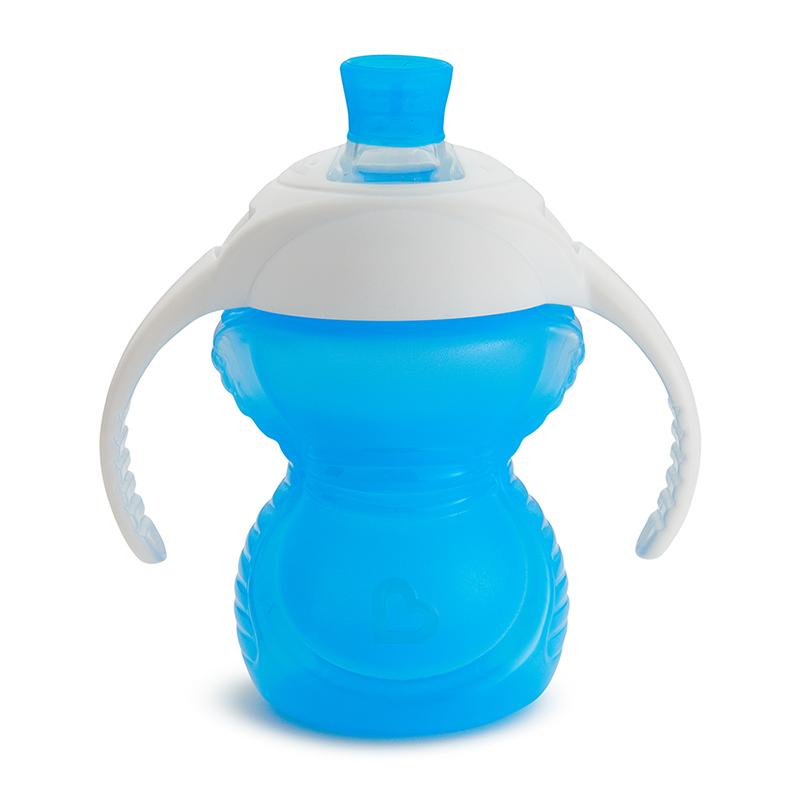 Cốc tập uống đầu siêu dai Munchkin 207ml màu xanh dương