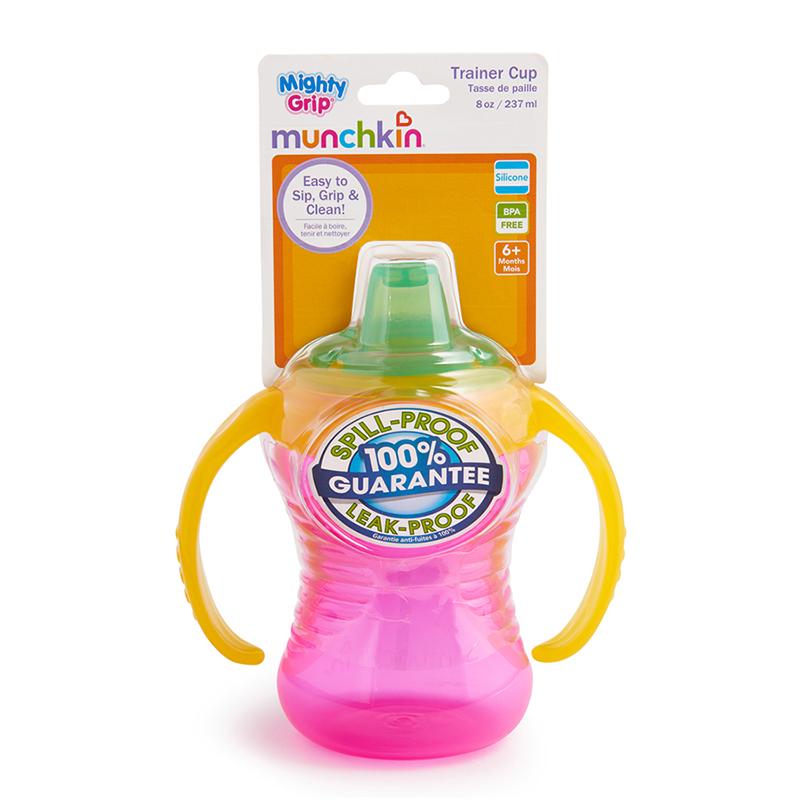 Cốc tập uống có tay cầm MG Munchkin 237ml màu hồng