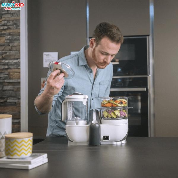 Cách sử dụng máy xay hấp đa năng Babymoov Nutribaby 5 in 1 chế biến đồ ăn dặm cho bé an toàn