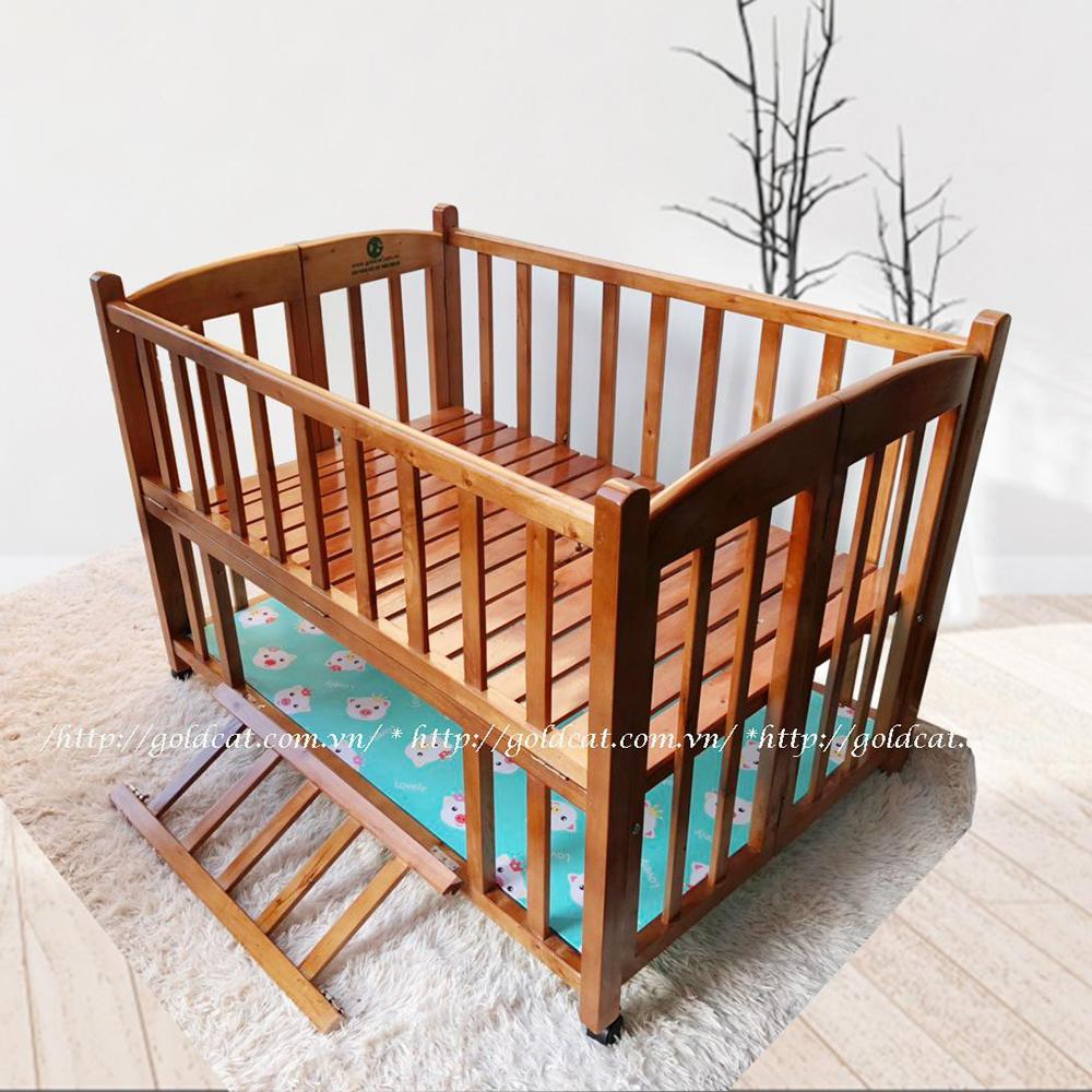 Combo cũi giường 2 giát GoldCat (Heo Xanh, Sơn Cánh Gián)