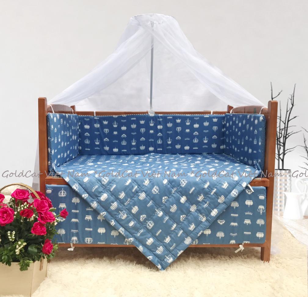 Combo cũi giường Cánh Gián GoldCat (Vương Miện Ghi, Không bánh xe)