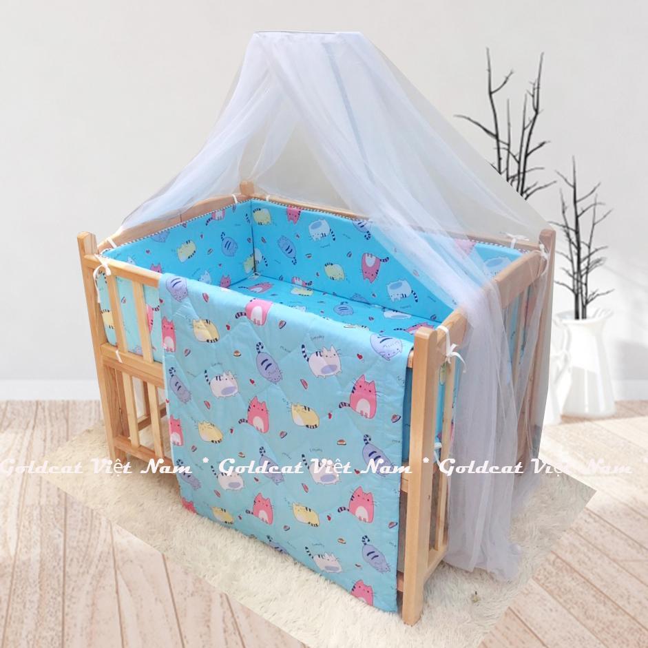 Combo cũi giường Quế Mộc Goldcat (Mèo Béo Xanh, Không bánh xe)