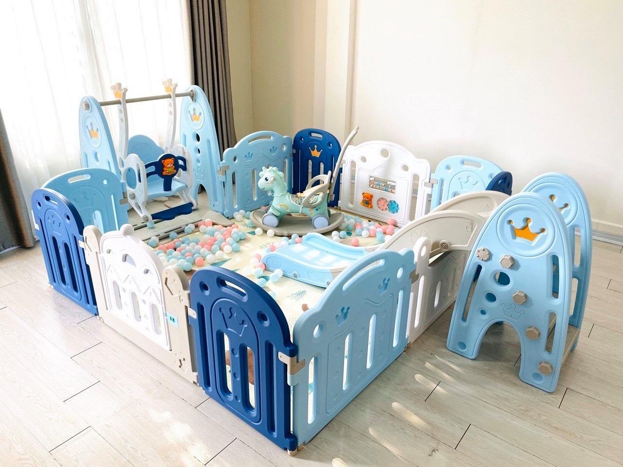 Combo quây Holla vương miệng full màu xanh 186x216cm