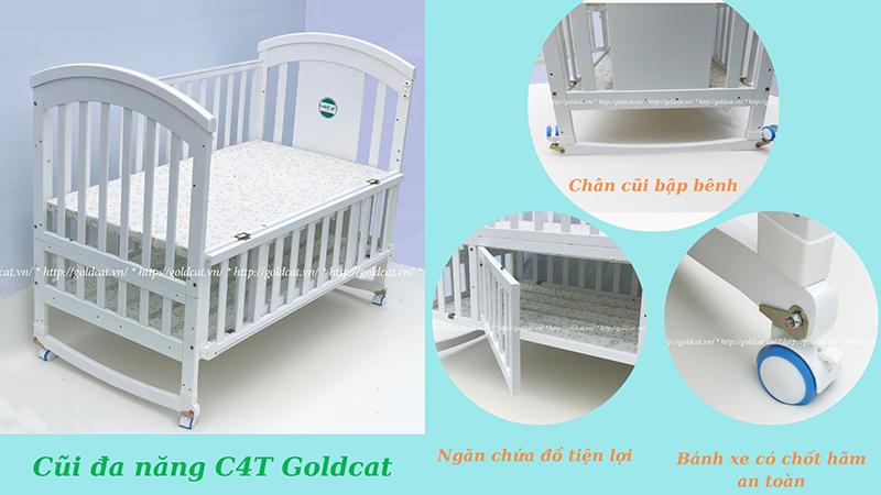 Cũi giường đa năng Goldcat + C4T Plus