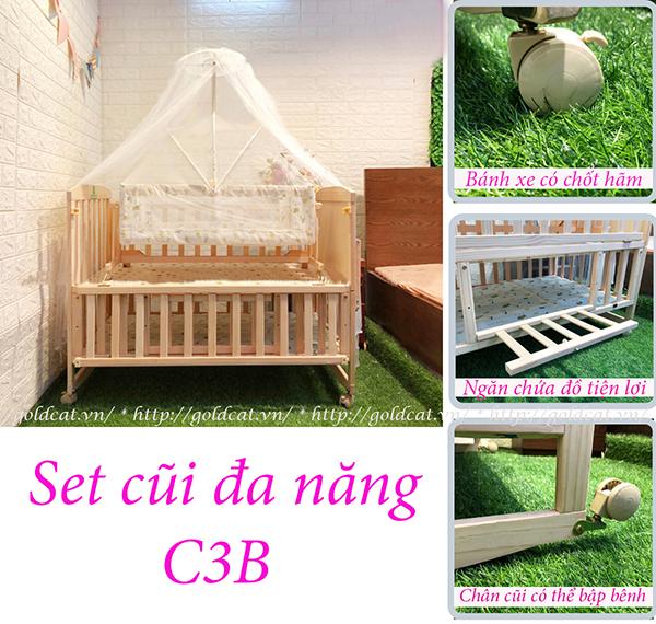 Cũi giường đa năng Goldcat C3B