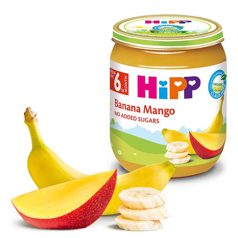 Dinh dưỡng đóng lọ HiPP chuối, xoài 125g (Trên 6 tháng) AL4217-01