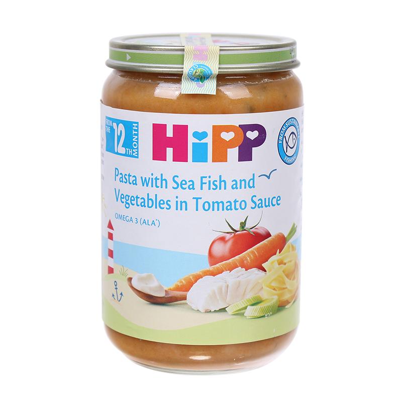 Dinh dưỡng đóng lọ HiPP mì bẹt, cá hồi sốt cà chua (220g) 12+ AL6823-01