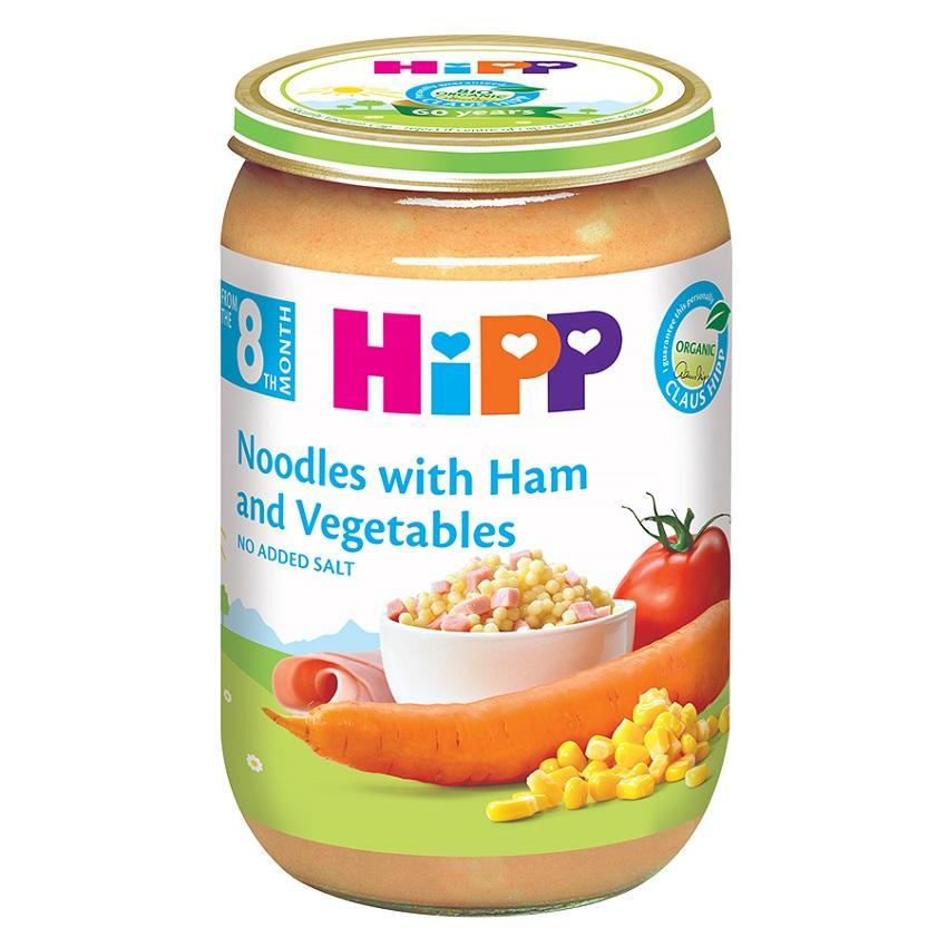 Dinh dưỡng đóng lọ Hipp Thịt giăm bông, Mì ống và Rau củ 220g AL6540-01
