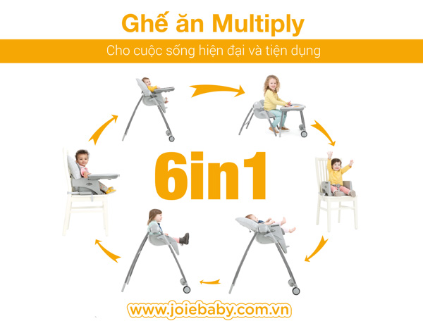 Ghế ăn trẻ em Joie Multiply Petite City 6in1