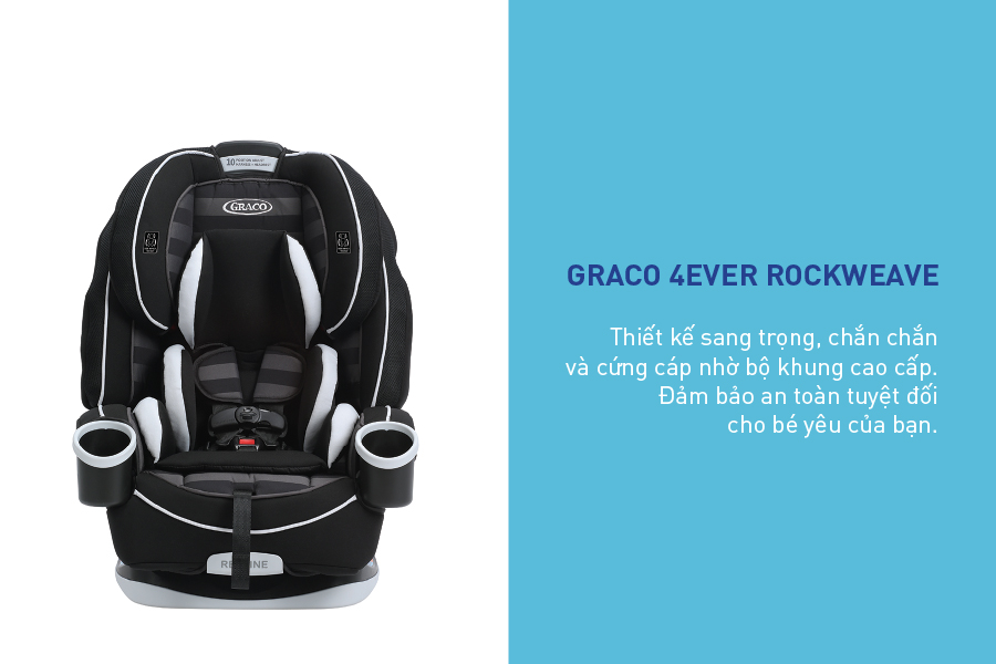Ghế Ngồi Ô Tô Trẻ Em Graco 4Ever Rockweave 8AH04RCWHK