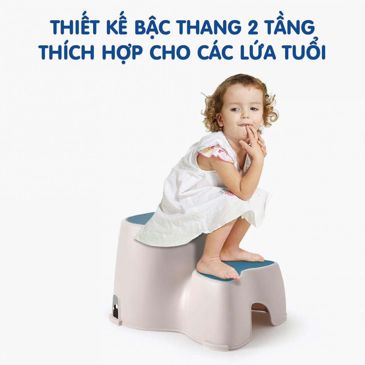 Ghế bậc Holla màu xanh