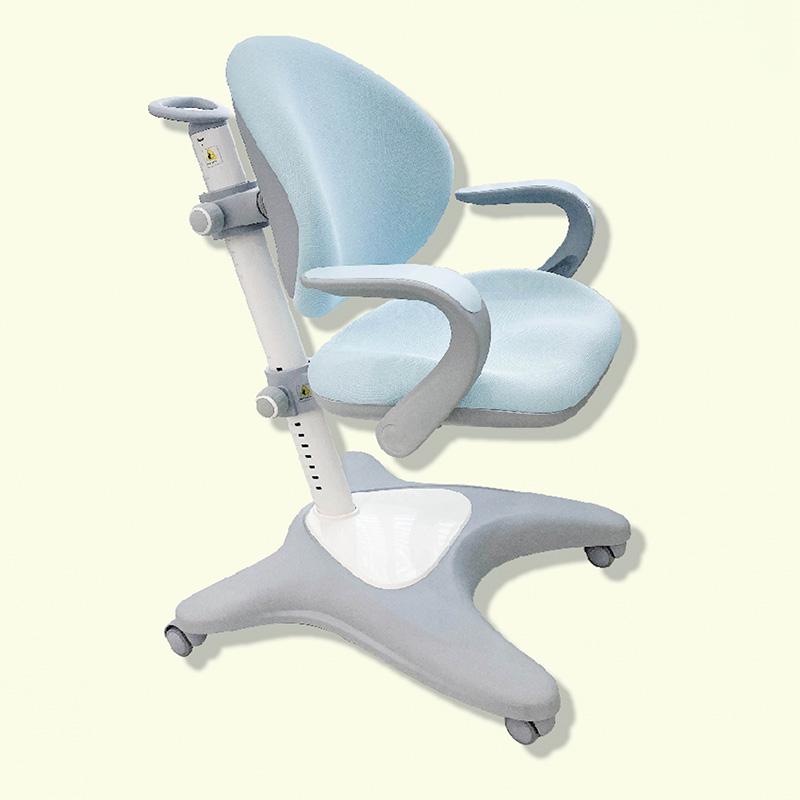 Ghế chống gù lưng tròn Luxury có tay vịn màu xanh