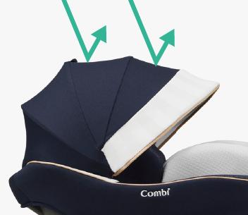 Ghế ngồi ô tô Combi Culmove xoay 360° Smart Isofix xanh navy