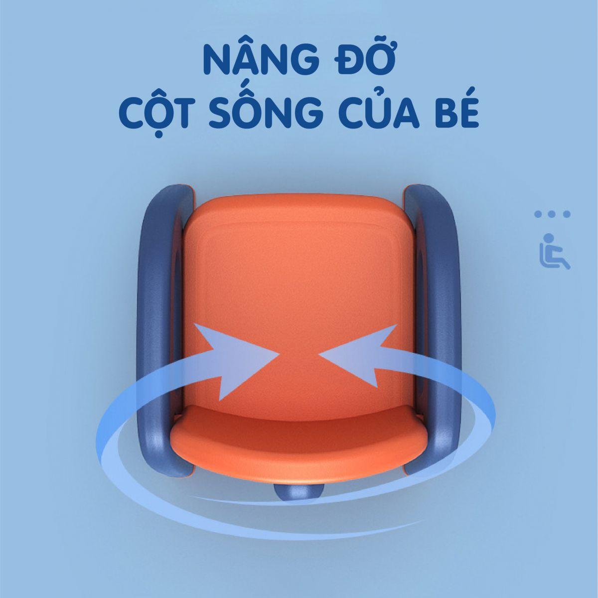Ghế nhựa cho bé Holla 2021 màu cam