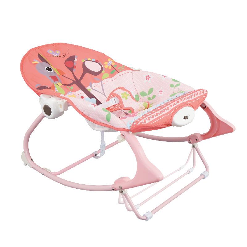 Ghế rung có nhạc và thanh đồ chơi vận động Koning Kids KK63562 - Màu Hồng