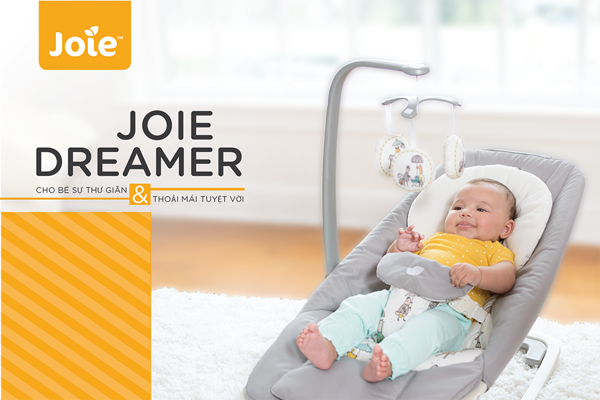 Ghế rung trẻ em Joie Dreamer Petite City