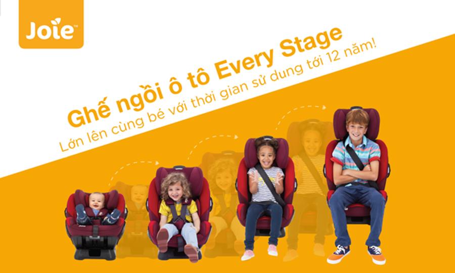 Ghế ngồi ô tô trẻ em Joie Every Stage Ember dành cho bé từ sơ sinh tới 12 tuổi